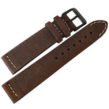 20mm ColaReb Italy Spoleto SHORT Dark Brown Leather PVD BUCKLE Watch Band Strap