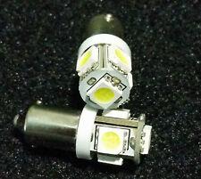 4X BA9 COOL WHITE 5 SMD LED MAP LIGHT BULBS BAX9 64111 64132 1895 1816 1891 1445