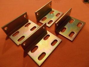 Heavy Duty Steel Right Angle Brackets--- Plated---(Lot of 10)