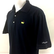 The Masters Collection Augusta National Golf Polo Shirt Large Navy Blue Cotton