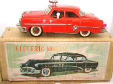 MIZUNO 1950'S JAPANESE ELECTROMOBILE TINPLATE FIRE CHIEF'S CAR - BATTERY - BOX