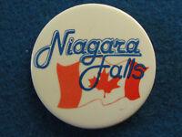 Niagara Falls - Canada Flag - Button Badge - 1980's?