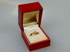Vintage Estate 14k Solid Yellow Gold Diamond Engagement Ring 2.8G Size 6 in Box
