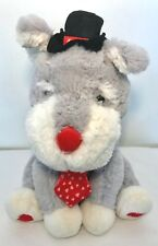 Sound N Light Animated Plush Gray Dog Moves Sings For Once In My Life Valentine
