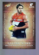 2013 Select Best and Fairest Card - Callan Ward  BF9