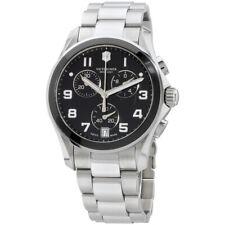 Victorinox Chrono Classic Black Dial Stainless Steel Men's Watch 241544