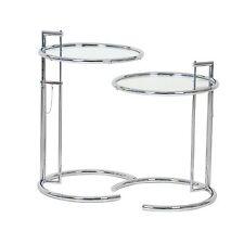 2x ClassiCon E1027 Adjustable Table Eileen Gray verchromt Klarglas Beistelltisch