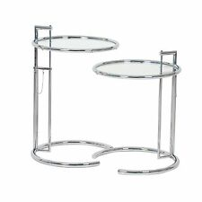 ClassiCon E1027 Adjustable Table Eileen Gray verchromt Klarglas