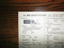 Repair Manuals & Literature for 1968 Mercury Cougar   eBay on