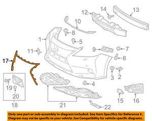 Lexus TOYOTA OEM 13-15 ES300h-Bumper Trim-Molding 5312133050