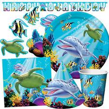 OCEAN Party Birthday Party Range - Dolphin FishTableware Balloons & Decorations