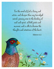 ACEO Bible Verse Hebrews 4:12 Signed Limited Edition Watercolor Artwork