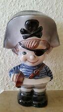 Keramik Spardose. Kleiner Pirat.20 cm hoch.Marke unbekannt.