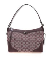 NWT COACH Small East West Ivie Shoulder Bag Purse Signature Raspberry F46285 Red