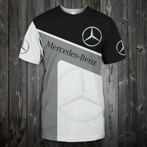 MERCEDES-BENZ Top Gift - Man's Leisure T-Shirt Digital 3D Car Logo Printing