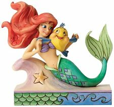 Disney Traditions Fun & Friends Ornament Ariel And Flounder Resin Figurine Gift