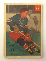 1954-55 Jack Evans #72 New York Rangers Parkie Parkhurst Ice Hockey Card H302