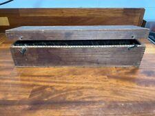 More details for antique wooden glass slides box, magic lantern, with slides