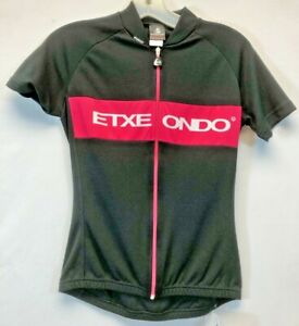 Etxeond Andre Women's Short Sleeve Cycling Jersey in Black/Pink - Made in Spain