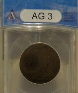 1797 Draped Bust Large Cent 1c ANACS  AG3