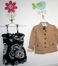 BABY GAP HAVANA Cantina Floral Black Ivory Romper & Khaki Jacket Girl Size 4