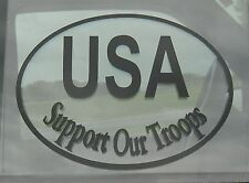 Patriotic American Support Troops Traditional Oracal Vinyl Decal Sticker