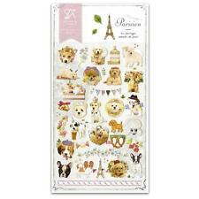 CUTE PARISIEN DOG STICKERS Puppy Kawaii Nylon Sticker Sheet Craft Scrapbook Seal