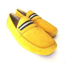 S-1313997 New Bally Wabler Mustard Suede Driver Shoe Size US 10D Marked 9E