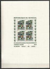 1979 SENEGAL HUNDERTWASSER FRIEDENSREICH PAINT ART BLOCK: 34-35-36 MNH