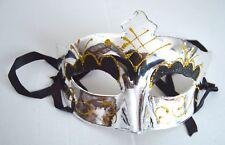 NEW Shiny silver metal plastic eyeshadow Masquerade Mask Eye Gothic halloween