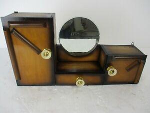 large Double Apothecary Bathroom Medicine Kitchen Cabinet Wood Art deco Gorgeous
