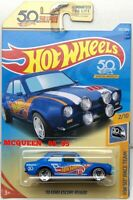 HOT WHEELS 2018 HW 50TH RACE TEAM '70 FORD ESCORT RS1600 #2/10 BLUE