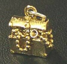 LOOK New Pirate Pendant Charm Treasure Box Chest Gold Plated