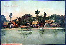 DUTCH INDIES~Indonesia~Java~ 1900's Tello-River at MAKASSAR ~ South Sulawesi