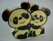 Vintage 1972 Windsor cute panda figural Am Radio - Tested & Working