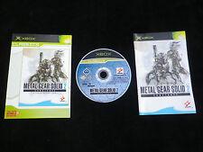 JEU Microsoft XBOX : METAL GEAR SOLID 2 SUBSTANCE (complet, envoi suivi)