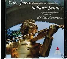 CD WIEN FEIERT JOHANN STRAUSS NIKOLAUS HARNONCOURT ROYAL CONCERTGEBOUW ORCHESTRA