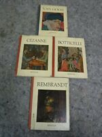 Lot of 4 Artist Books by Hyperion - Cezanne - Rembrandt - Van Gogh - Botticelli