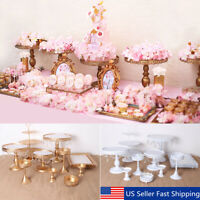 12Pcs Set Crystal Metal Cupcake Stand Cake Holder Display Wedding Birthday Party