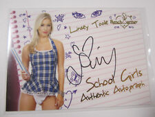 2011 BENCHWARMER LIMITED SCHOOL GIRL AUTO LINSEY TOOLE #11 AUTOGRAPH HOOTERS