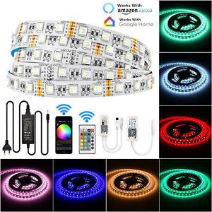 LED Stripe RGBW RGB+WW Leiste Streifen 5050SMD Band Leuchte Leuchte Lichterkette