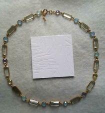 New Auren 18 ct gold vermeil sterling silver assorted gemstones necklace