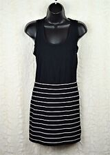 XXI Forever 21 Women's Shirt Tank Dress Size Medium Black and White E-61