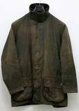 VINTAGE Barbour BEAUFORT Brown Men's Waxed Cotton Jacket Coat Size 40