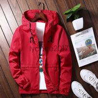 Men's Hoodies thin baseball uniform jacket Hooded Casual Sports coat Windbreaker