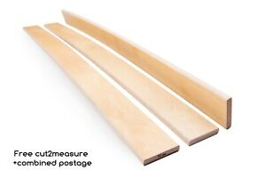 Pack 5 pcs Birch Wood 5 cm wide Sprung Bed Replacement Slats Single Double King