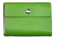 Green Credit Card Oyster Business ID Wallet Real Leather Quality Card Holder