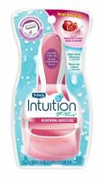 Schick Intuition Plus Renewing Moisture Pomegranate Razor Handle + 2 Cartridges