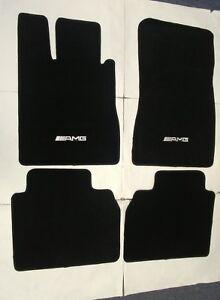 Fits 98-05 Mercedes S Class Floor Mats Front & Rear  Black W/Emblem
