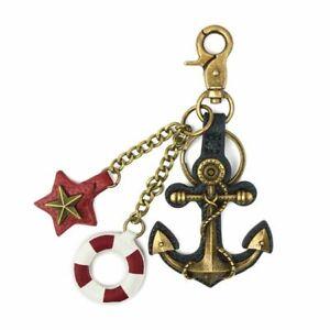 New Chala Purse Bag Charm Clip On Key Ring ANCHOR Stocking Stuffer Nautical gift